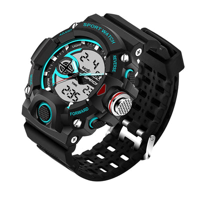 Sport wristwatch women watch LED waterproof army color analog digital clock