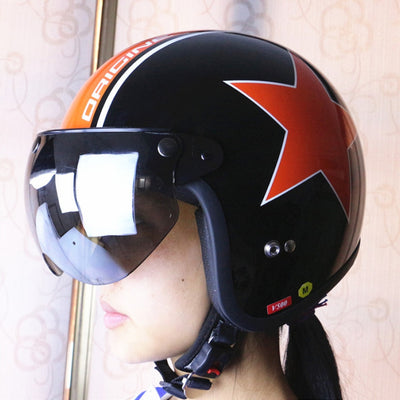women motorcycle helmet sunglasses 3 snap front flip up visor lens