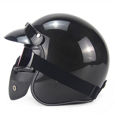 Vintage helmet retro 3/4 open face motorcycle helmets cruiser scooter