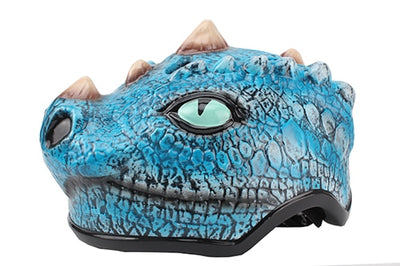 Leather bicycle helmet for kids dinosaur cartoon skating cycling riding