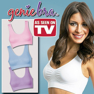 sports bra genie bra push up breast body shape wireless bra removable pads women