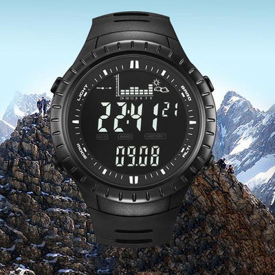 Men Sports Watches Digital Wristwatch Climbing Hiking Fishing Altimeter Barometer Thermometer Altitude