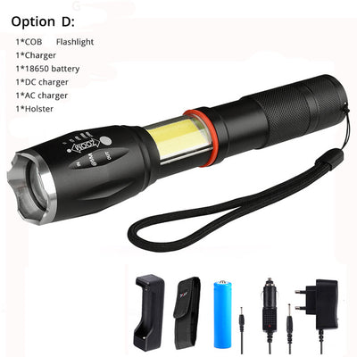 Tactical led flashlight portable torch 8000 lums use 18650 battery outdoor camping