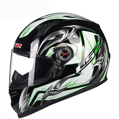 Army green motorcycle helmet racing helmets full face abs material black visor
