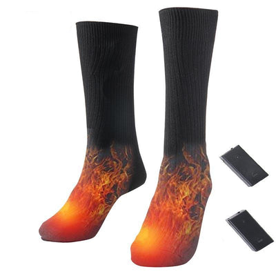 Electric warming sock sport ski heated socks thermal cotton for winter