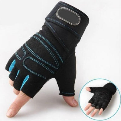 Gym gloves sport exercise fitness glove half finger body building training