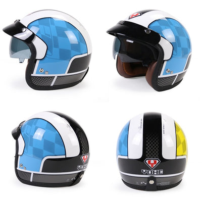 Vintage scooter helmet riding retro motorcycle open face crash helmets hero style