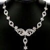 Garnet white sapphire CZ necklace 925 silver jewelry peacock design wedding