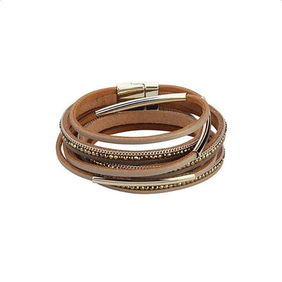 Charm bohemia leather bracelet multilayer women jewelry party gifts