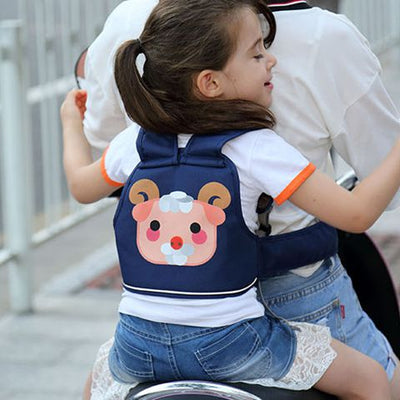 Electric vehicle safe motorcycle safety belt baby children seat safety belt star