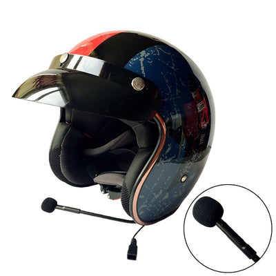Vintage bluetooth motorcycle helmet smart biker headset phone taking GPRS