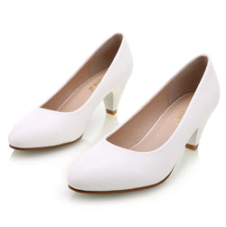 Women's Solid Pointed-Toe Pumps - ericallen