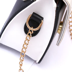 Women's Gold-Ring Leather Crossbody Bag - ericallen