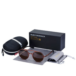 Retro Polarized Vintage Driving Men Round Sunglasses - ericallen