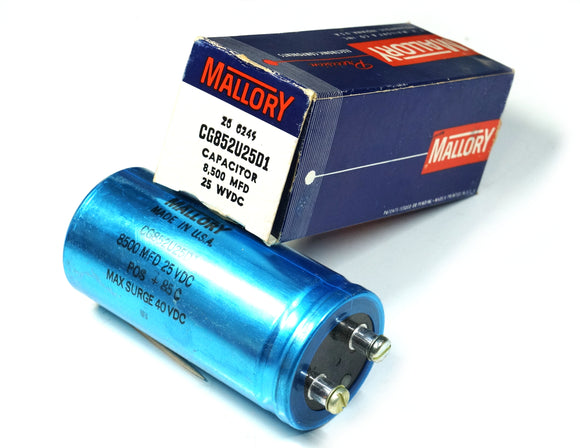Mallory CG852U02D1 Electrolytic Capacitor 8500uF 25VDC