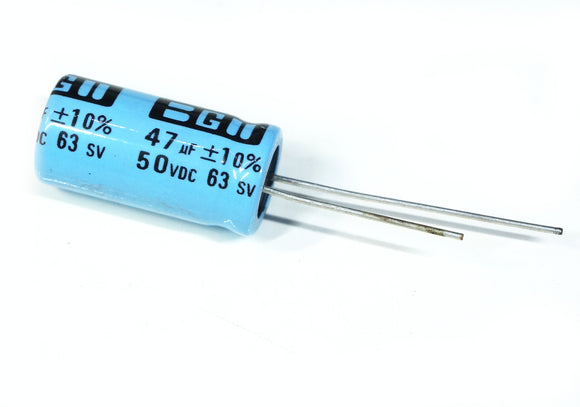 Non-polarized Electrolytic Capacitor 47uF 50VDC Radial Leads