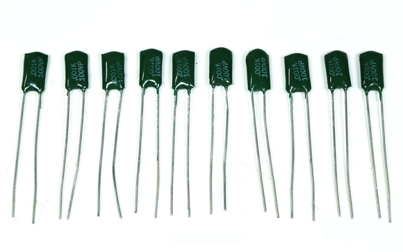 ADI-PPE 0.001 MFD 100V Bypass Capacitor QTY 10