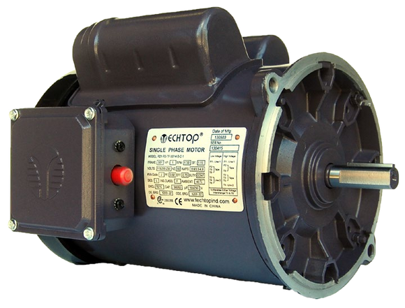 Techtop RD1-RS-TF-56Y-4-B-C-1 1 HP TEFC 1800 RPM 56Y  Single-Phase Auger Motor