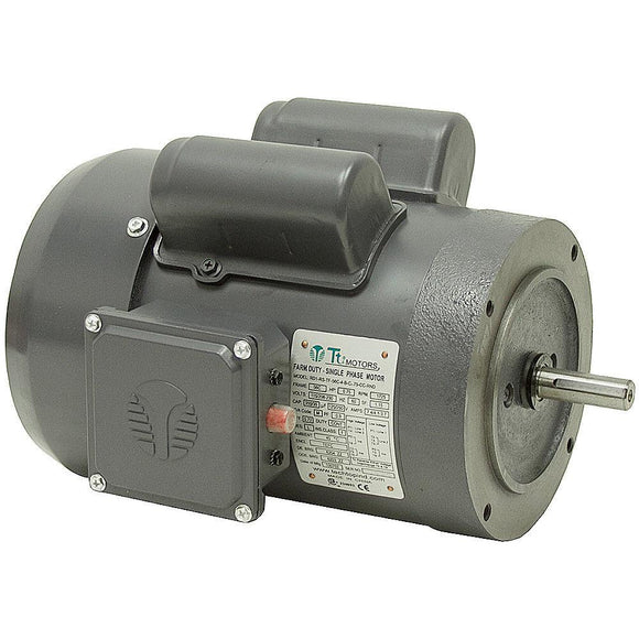 Techtop RD1-RS-TF-56HC-4-B-C-1 TEFC 1 HP 1800 RPM 56HC  Single-Phase Farm Duty Motor