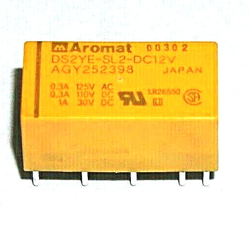 Aromat Relay DS2YE-SL2-DC12V DPDT PC Mount