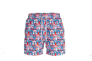 Beach Huts Men Swimshorts