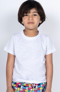 Boys Short Sleeved Plain White Tee