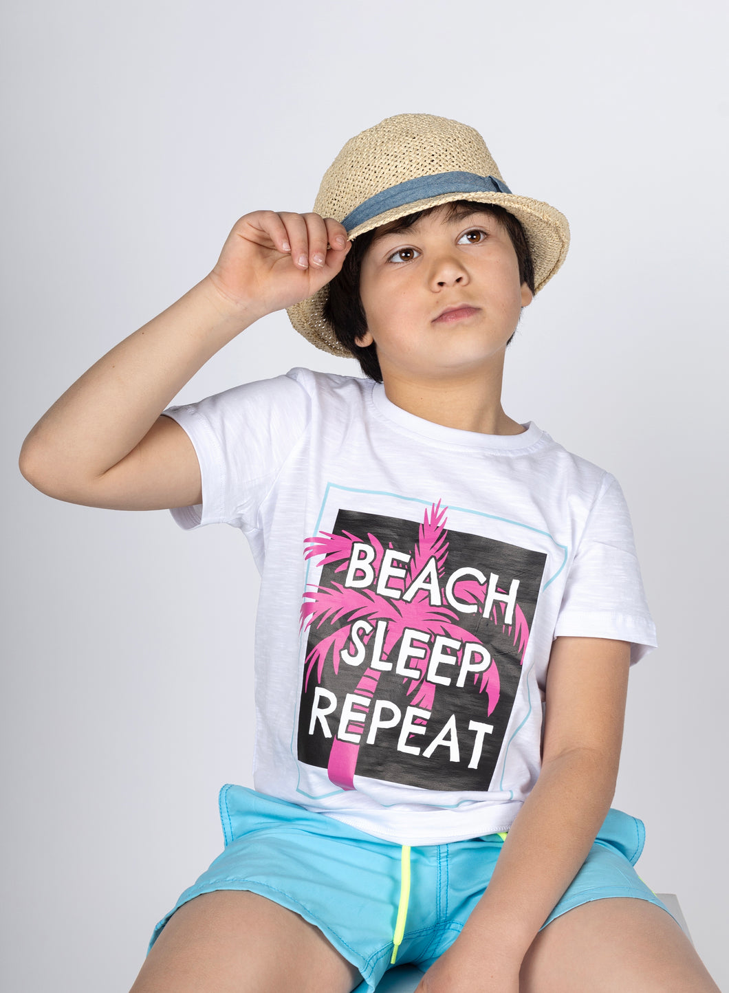 Boys Short Sleeved Summer Routine Tee