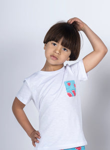 Boys Short Sleeved Watermelon pocket Tee