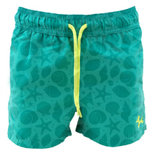 Load image into Gallery viewer, Green Seashells MAGIC boys Swimshorts