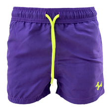 Load image into Gallery viewer, Purple Fish MAGIC boys Swimshorts