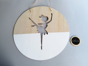 Wall Plaque - White Ballerina - SHARTRUESE