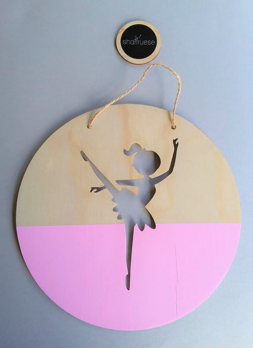 Wall Plaque - Pink Ballerina - SHARTRUESE