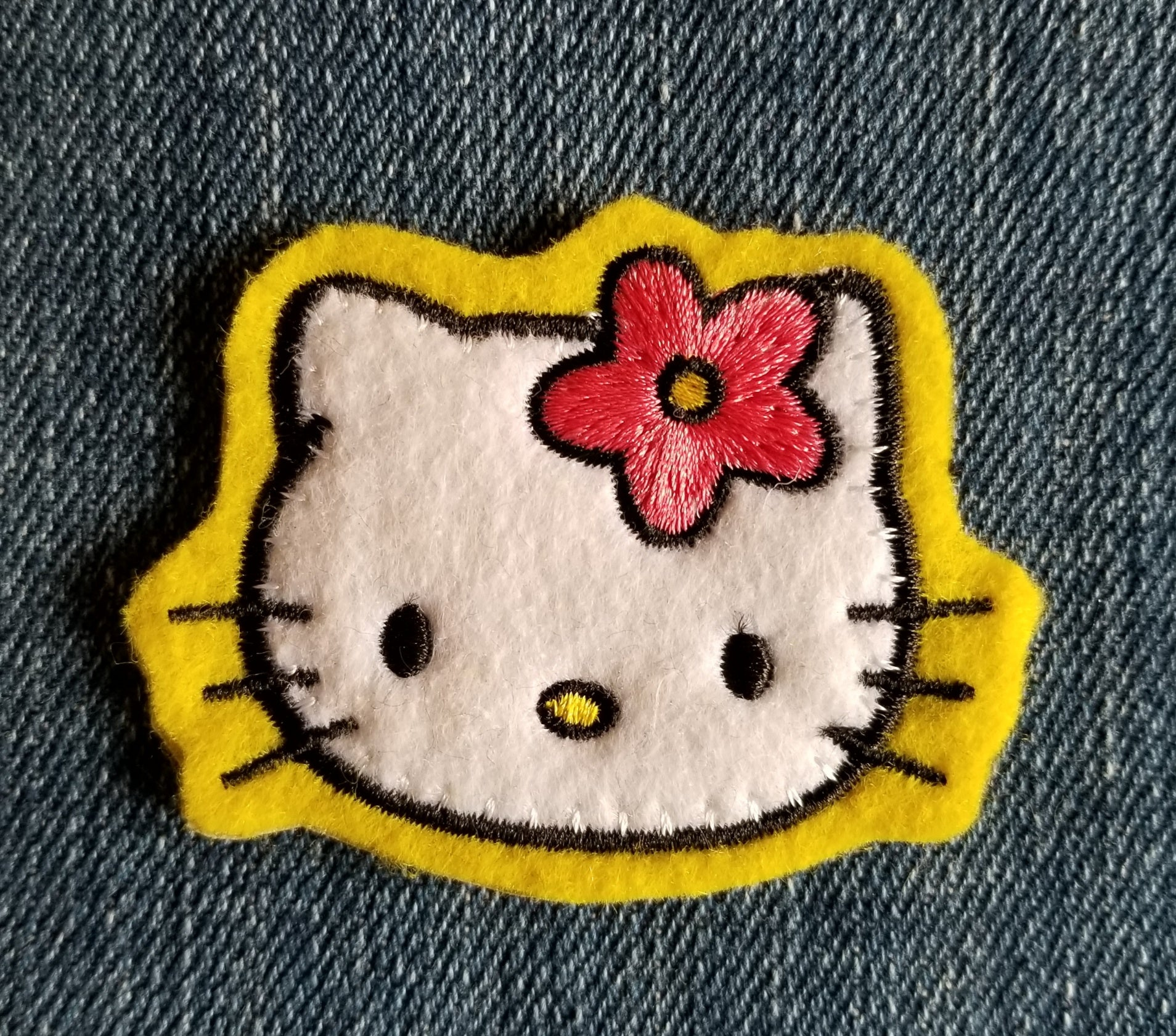 Hello Kitty Patch - Yellow