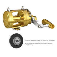 Load image into Gallery viewer, GOMEXUS Saltwater Trolling Reel 2 Speed 30W to 80W 50-132lbs