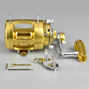 GOMEXUS Saltwater Trolling Reel 2 Speed 30W to 80W 50-132lbs