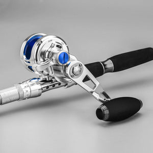 GOMEXUS Jigging Reel Left and Right 6.3:1 66lbs Conventional Saltwater Reel SX450