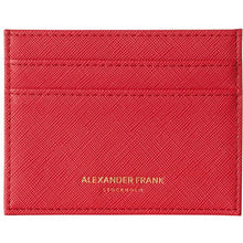 Load image into Gallery viewer, Alexander Frank Stockholm Red Milano Swedish Card Holder Brand Vegan colorful color
