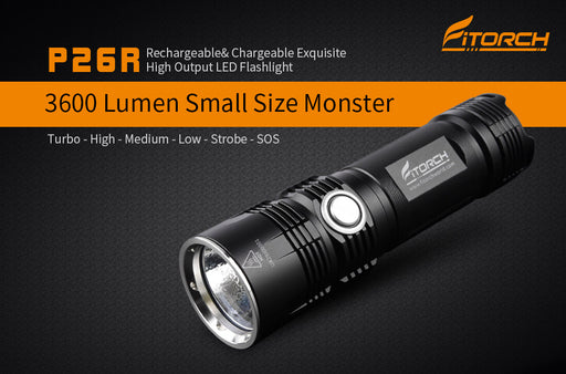 P26R | Rechargeable & Chargeable Exquisite High Output LED Flashlight