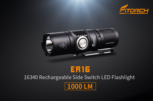 ER16 | Rechargeable Side Switch LED Flashlight