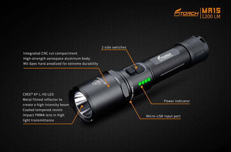 MR15 |  Rechargeable LED flashlight