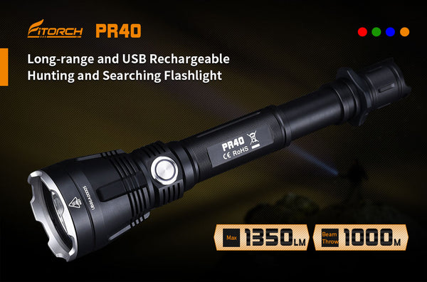 PR40 | Long-Range Rechargeable Hunting Flashlight