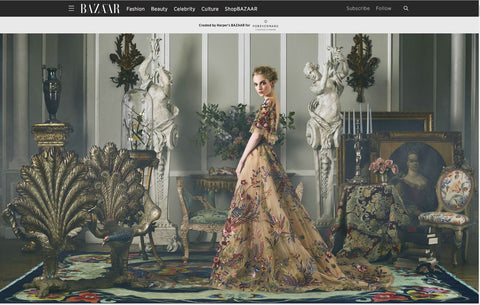 harpers bazaar rug west of hudson