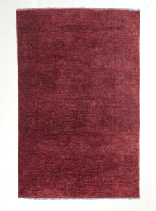 4x6 Overdyed Chobi Modern Blush Red Rug 1169 - west of hudson