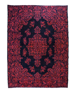 10x13 Vintage Overdyed Oriental Kerman Floral Rug 2500 - west of hudson