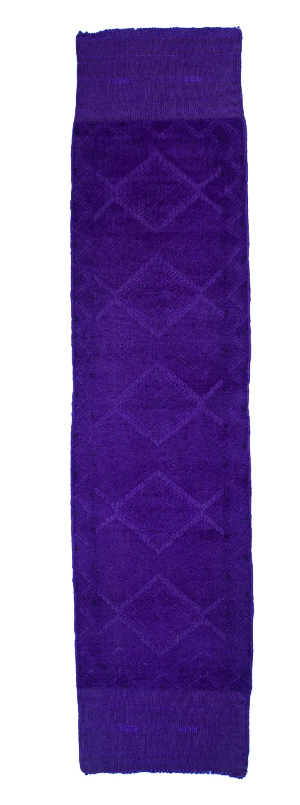 2x9 Overdyed Vintage Tribal Purple Runner 2550 - west of hudson