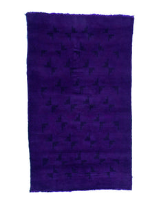 3x5 Overdyed Vintage Tribal Purple Rug 2552 - west of hudson