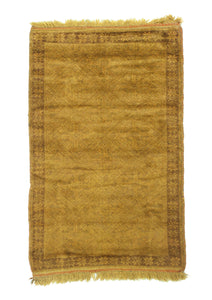 3x4 3x5 Overdyed Vintage Tribal Gold Chocolate Rug woh-2624 - west of hudson
