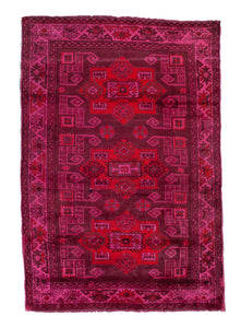 Kazak hot pink rug
