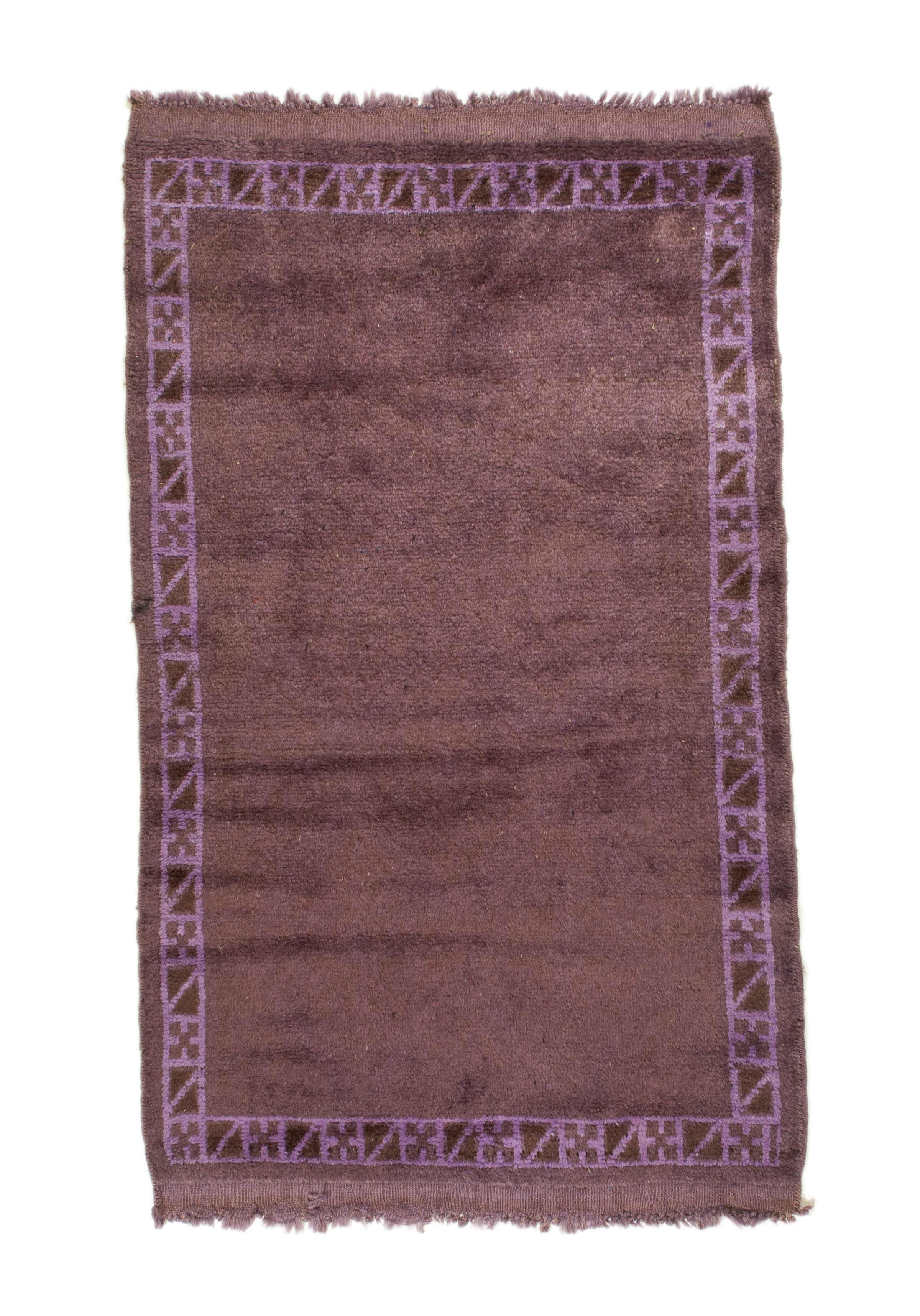 3x4 Overdyed Tribal Vintage Rug