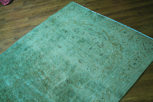 distressed teal rug 2699-4